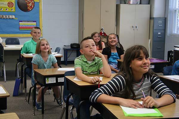 suburban christian school class
